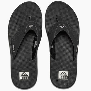 Reef Mens Fanning - Black/Silver-Reef-Seaside Surf Shop
