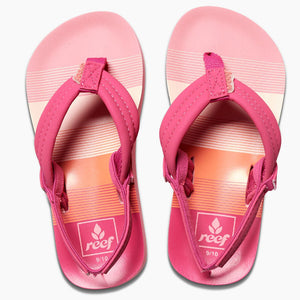 Reef Little Ahi - Pink Stripes-Reef-Seaside Surf Shop