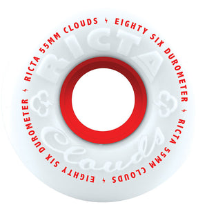 Ricta 55mm Clouds All Terrain 86A Wheels - White-Ricta Wheels-Seaside Surf Shop