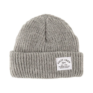 Salty Crew Mens Bimini Beanie - Light Grey