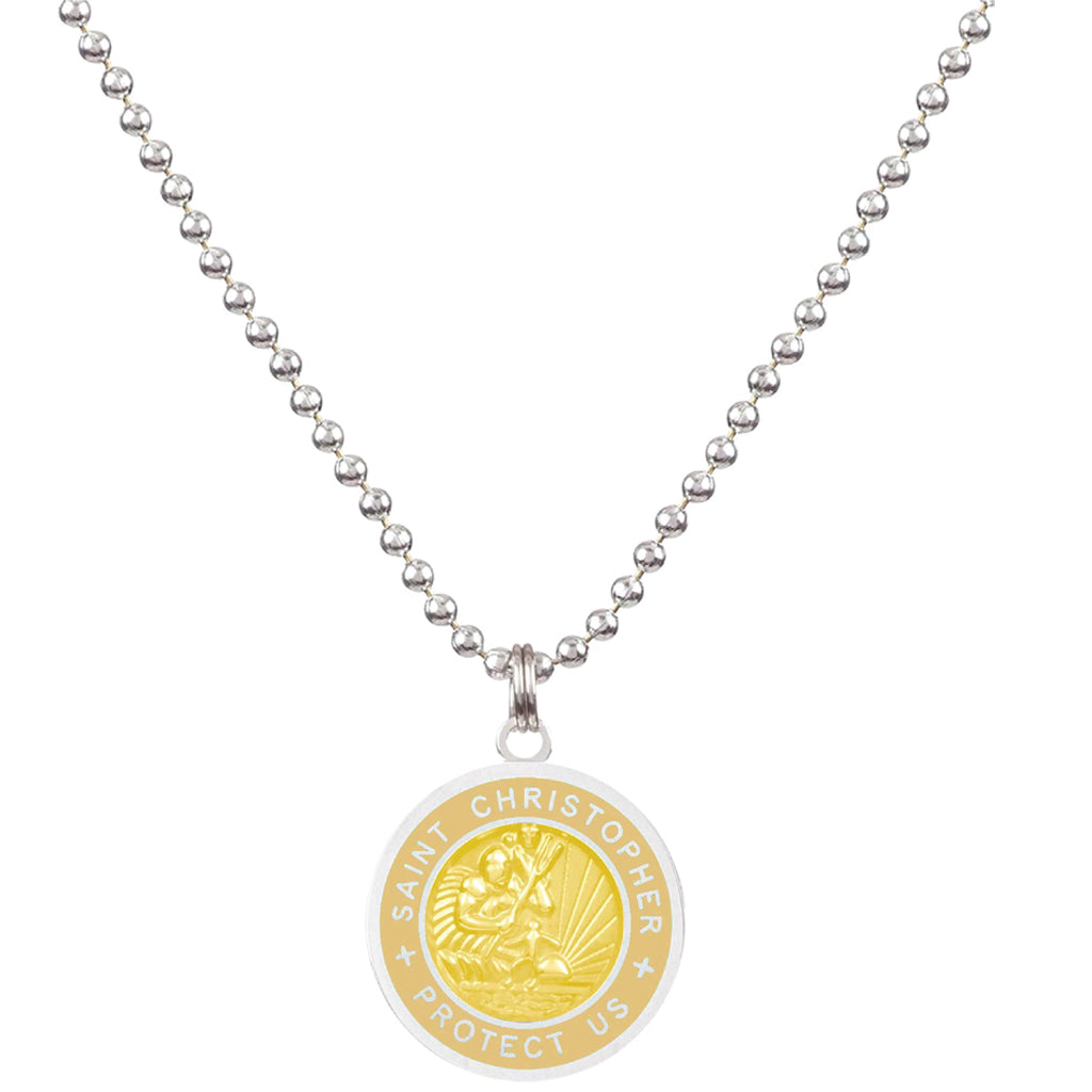 Saint Christopher Medium Medal - Sandy/Blonde - Seaside Surf Shop