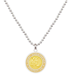 Saint Christopher Medium Medal - Sandy/Blonde