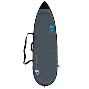 Creatures Shortboard Lite Board Bag - Charcoal/Cyan
