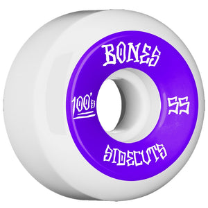 Bones 55mm V5 Series 100#2 Wheels - White Sidecut