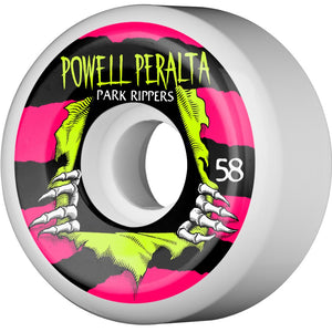 Powell Peralta 58mm Park Ripper Wheels - White
