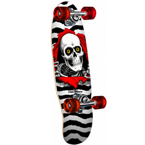 "Powell Peralta Micro Mini Ripper 7.5x24"" Complete - White"