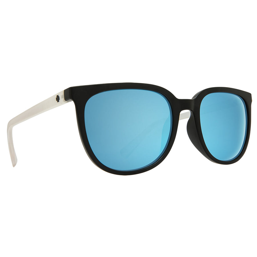 Spy Optics Fizz - Matte Black/Matte Crystal/Grey w/ Light Blue Spectra