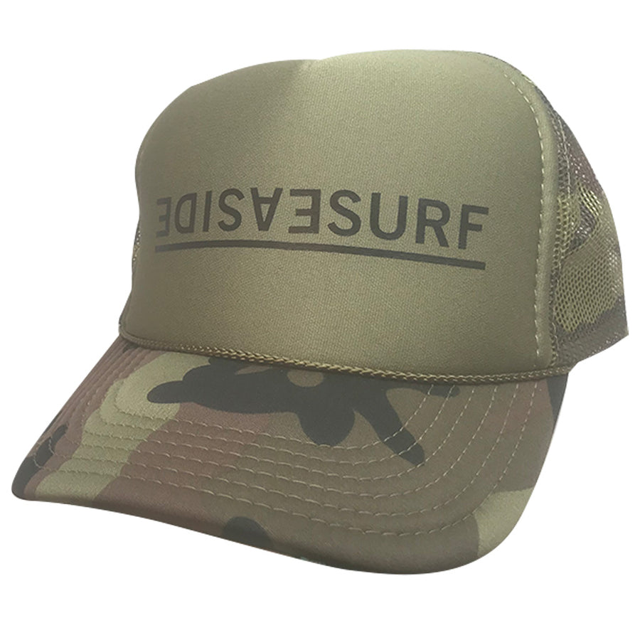 Seaside Surf Shop Invert Trucker Cap - Forest Camo