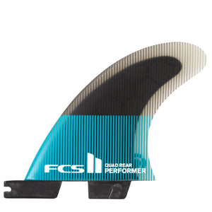 FCS II Performer Medium Quad Rear Set - Teal Black