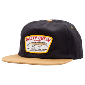 Salty Crew Hardbait 5 Panel Cap - Navy/Tan