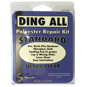 Ding All Standard Repair Kit, Surf Accessories, Blocksurf, Ding All, Ding Repair, Polyester Repair, Ding All Standard Repair Kit will ship only to addresses in the contigous 48 states at this time, due to the chemical nature of our products we can only ship via Ground. We do not ship to Post Office Boxes-items may be shipped separately if you have multiple items on order.