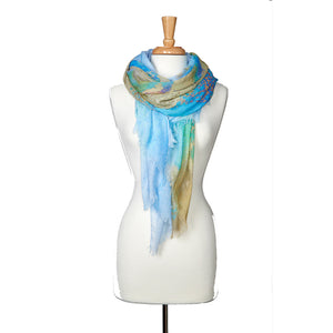 -Apparel Accessories-Prana Womens Alesso Scarf - Blythe Blue-Prana-Seaside Surf Shop
