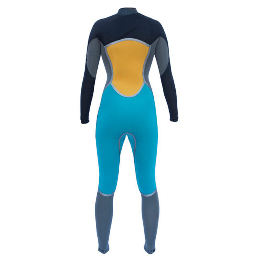 '-Wetsuits-Isurus Ember Womens 343 Chest Zip Wetsuit-Isurus-Seaside Surf Shop