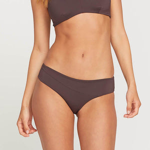 Volcom Womens Simply Seamless Modest Bottom - Dark Chocolate