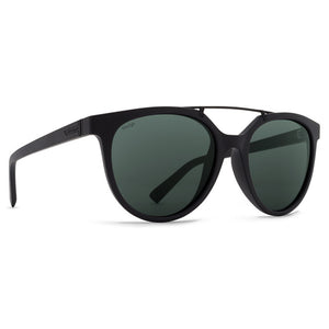 Von Zipper Hitsville Sunglasses - Black Satin/Wild Vintage Grey Polarized