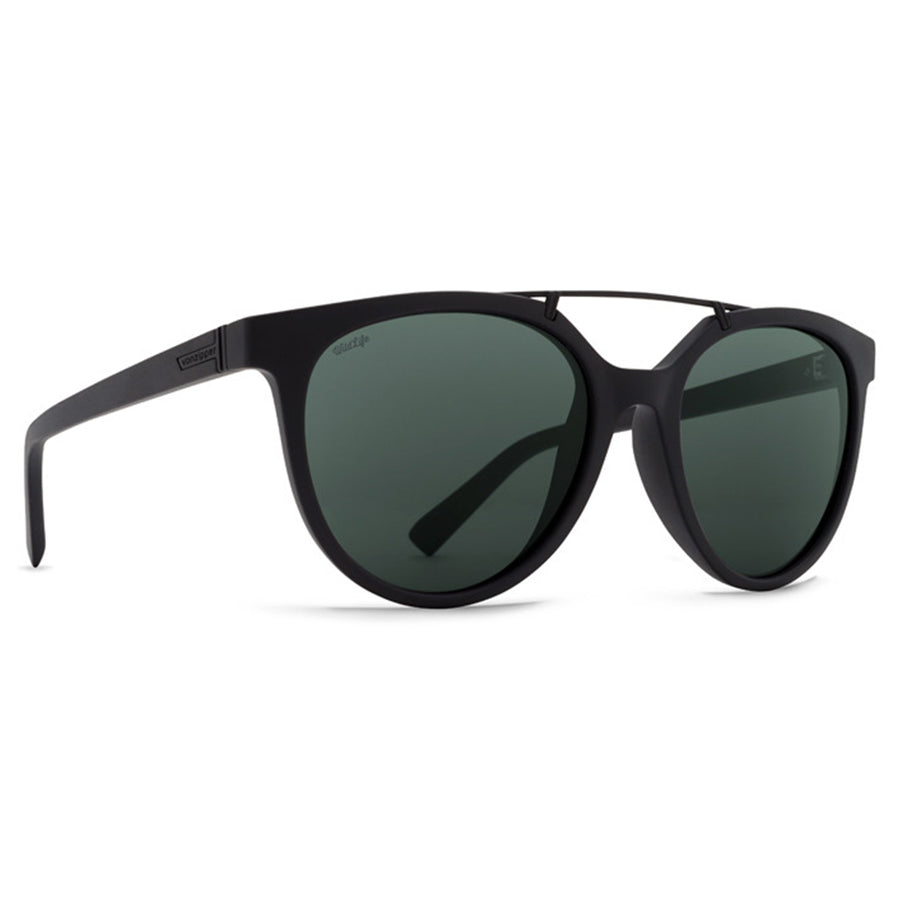 Von Zipper Hitsville Sunglasses - Black Satin/Wild Vintage Grey Polarized-Von Zipper-Seaside Surf Shop