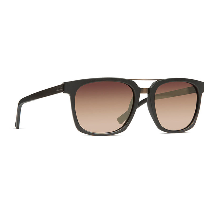 Von Zipper Plimpton Sunglasses - Black Satin/Rust Gradient