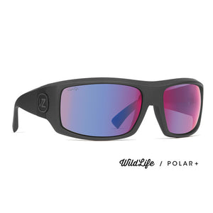 Von Zipper Clutch Sunglasses -Graphite Satin/Wildlife Plasma Chrome Polarized