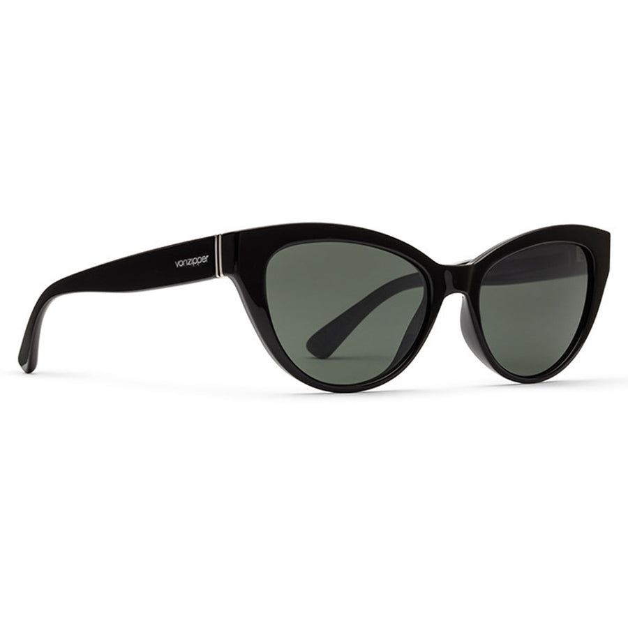Von Zipper Ya Ya Sunglasses - Black Gloss/Vintage Grey