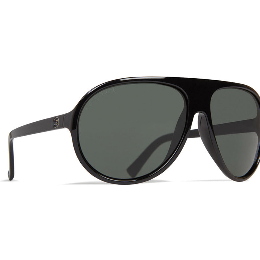 Von Zipper Rockford Sunglasses - Black Gloss/Vintage Grey, Sunglasses, Von Zipper, Von Zipper, / Large fit / 100% UV protection / Base 6 lens / Impact-resistant polycarbonate lens / Nylon grilamid frame / Made in Italy