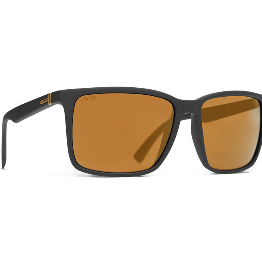 Von Zipper Lesmore Sunglasses - Black Satin/Gold Flash Polarized