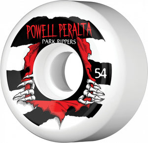 '-Skate-Powell Peralta 54mm Park Ripper Wheels - White-Powell Peralta-Seaside Surf Shop