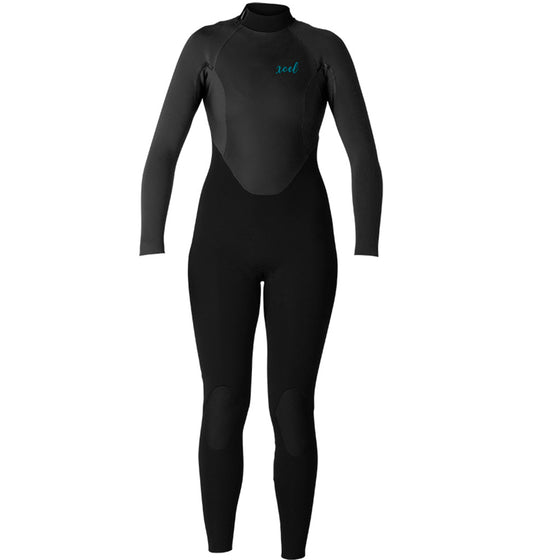 -Wetsuits-Xcel Axis X Women's 4/3mm Wetsuit - Black-Xcel Wetsuits-Seaside Surf Shop