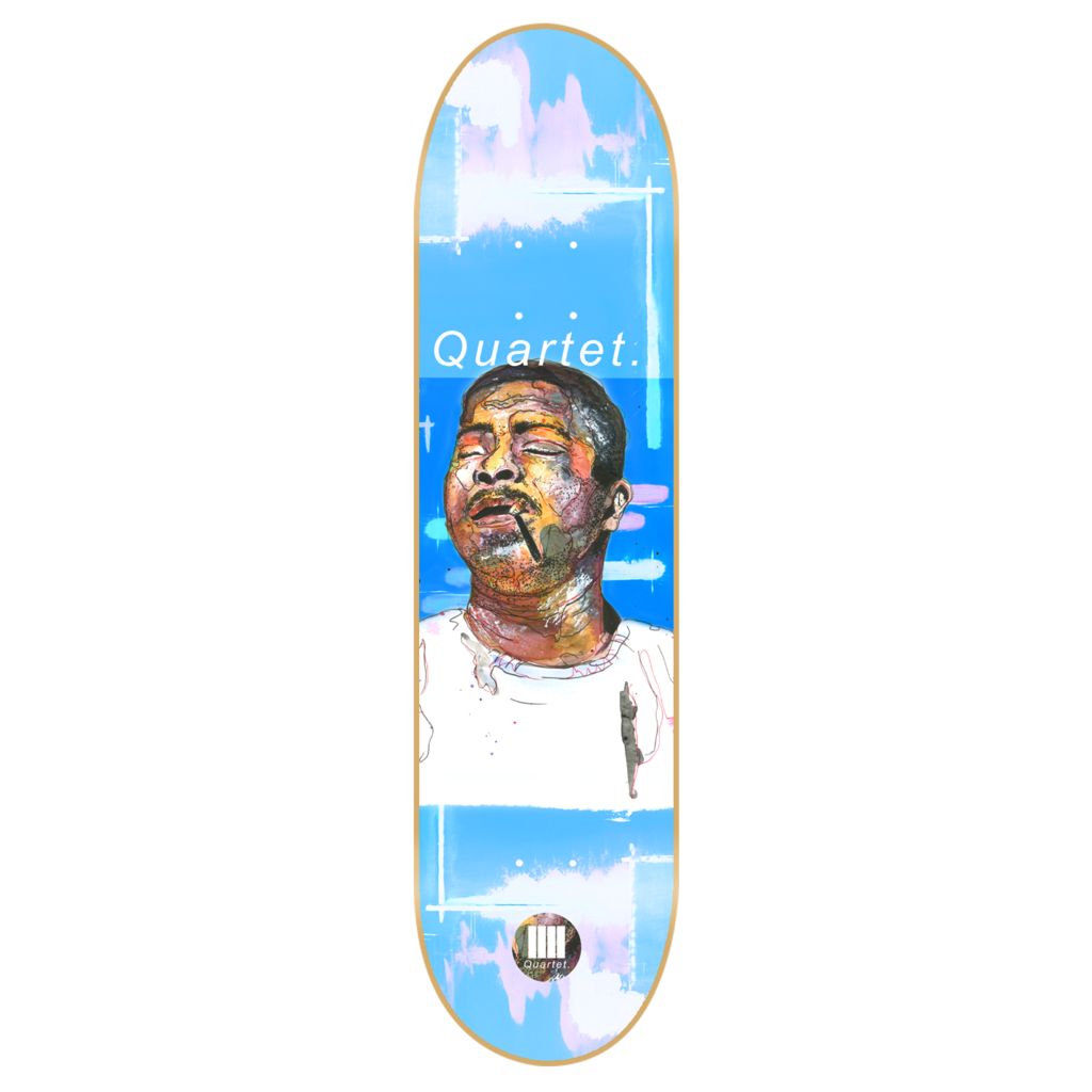 "-Skate-Quartet Skateboards Wynton Kelly Deck - 8.125""-Quartet Skateboards-Seaside Surf Shop"