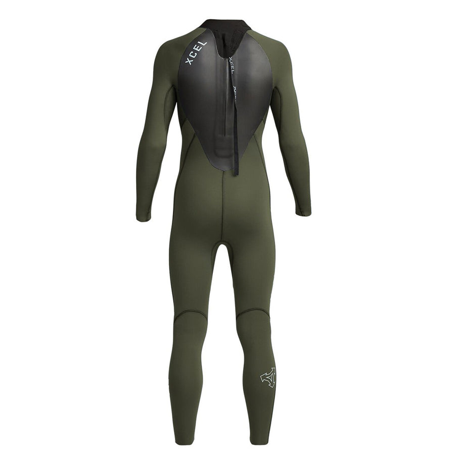 Xcel Axis X Youth's 4/3mm Backzip Wetsuit - Dark Forest