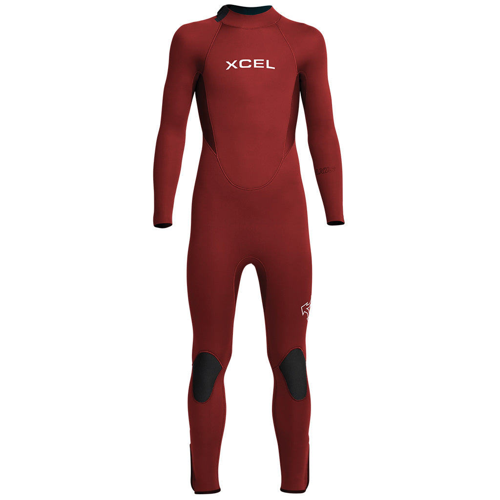Xcel Axis Youth 4/3mm Backzip Wetsuit - Chili Pepper - Seaside Surf Shop