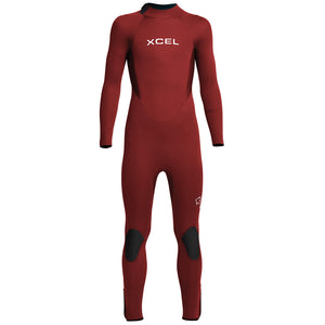 Xcel Axis Youth 4/3mm Backzip Wetsuit - Chili Pepper