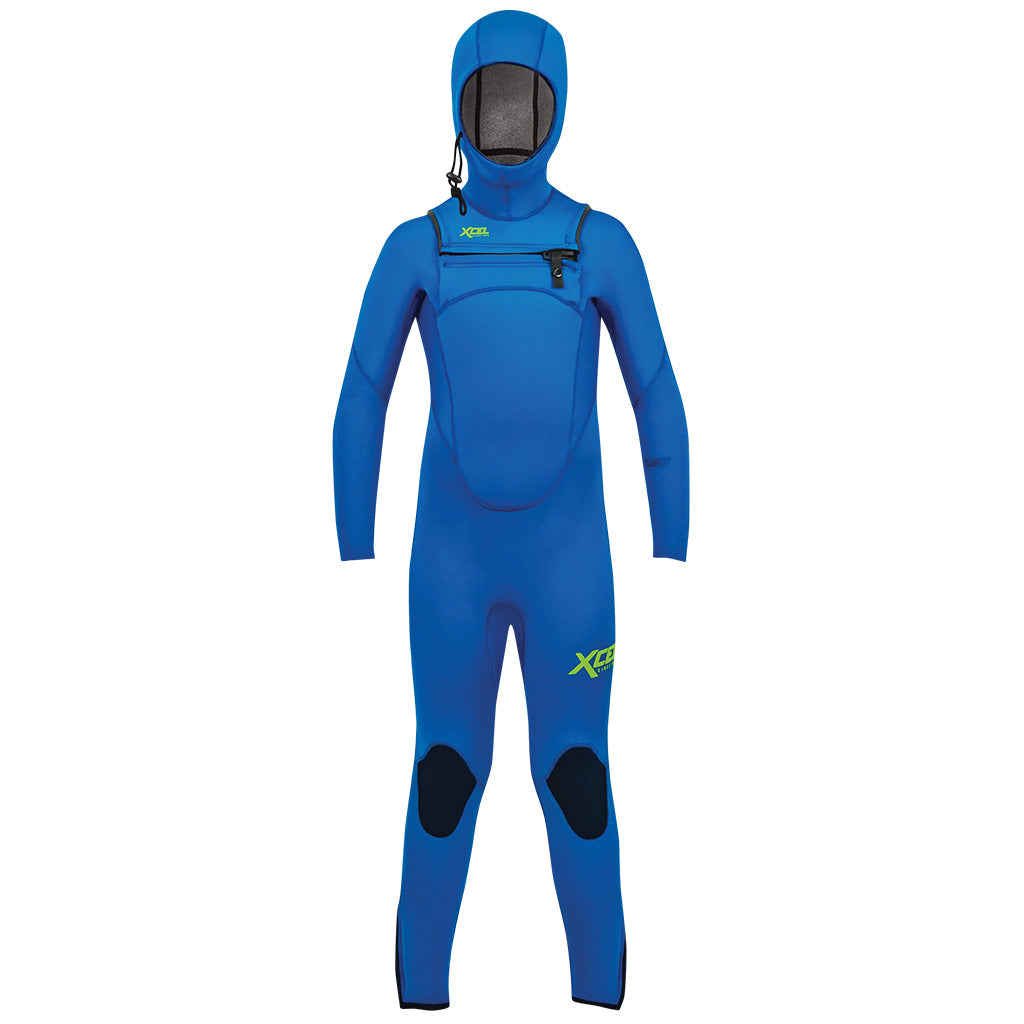 Xcel Comp Youth 4.5/3.5mm Hooded Wetsuit - Faint Blue - Seaside Surf Shop