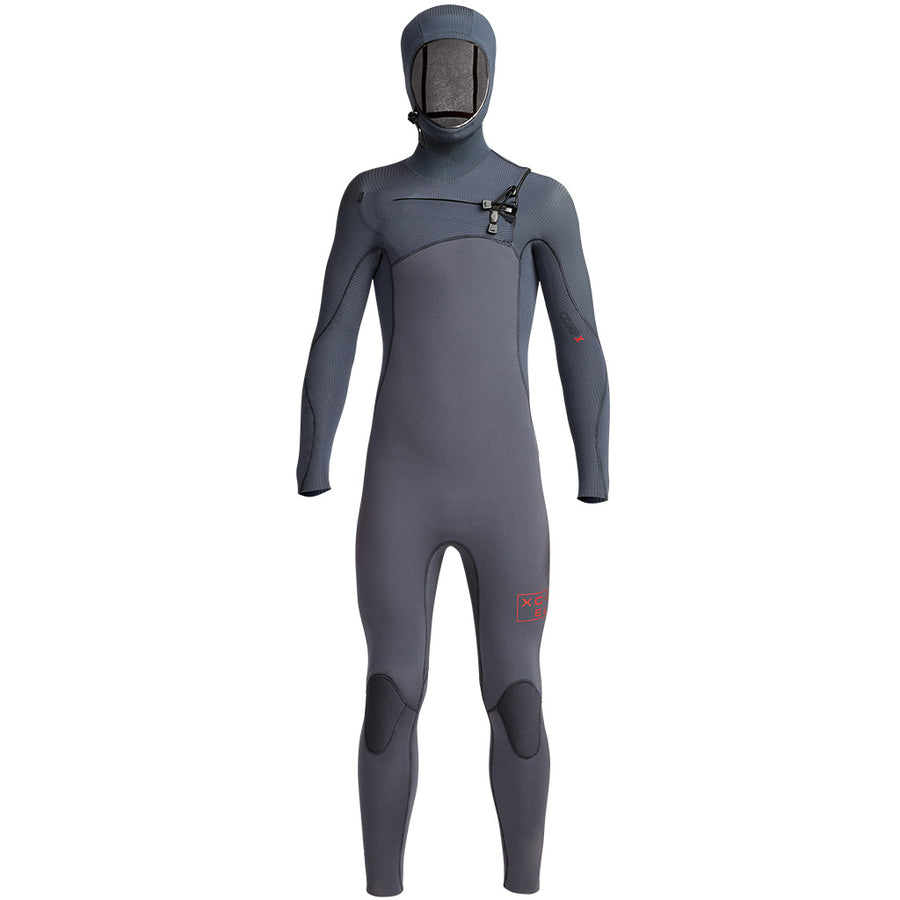 Xcel Comp X Youth 4.5/3.5mm Hooded Wetsuit - Gunmetal