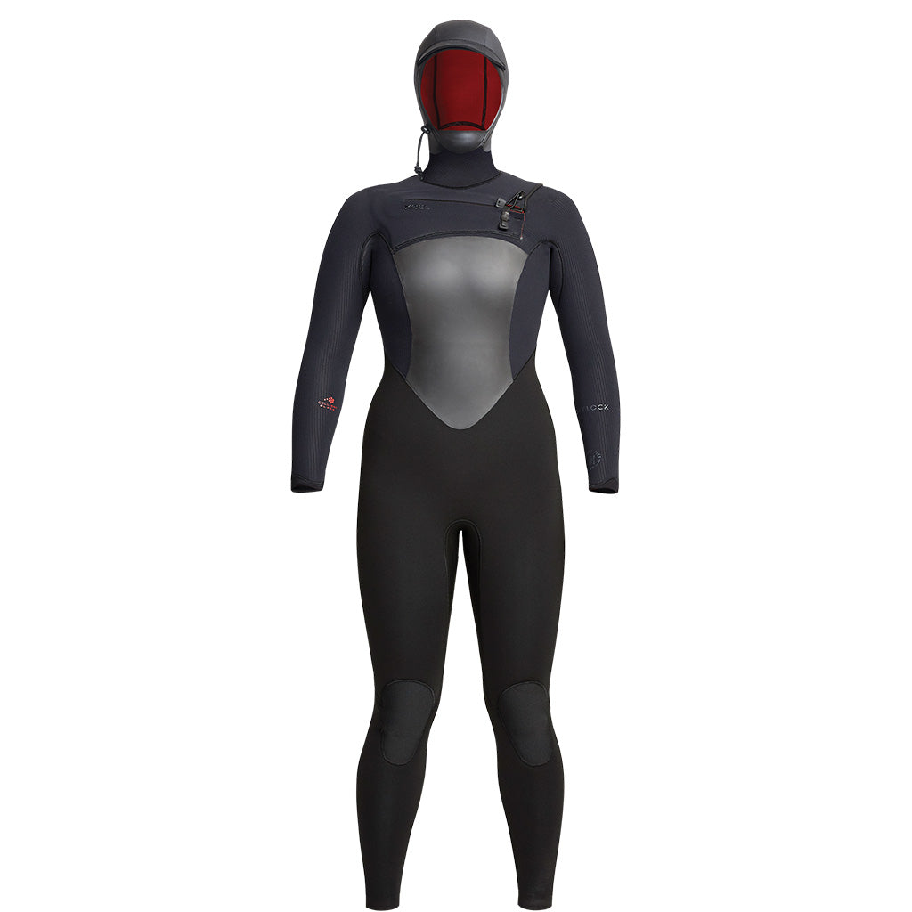 Xcel Drylock Womens 6/5mm Hooded Wetsuit - Black - Seaside Surf Shop