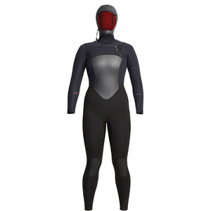 Xcel Drylock Womens 6/5mm Hooded Wetsuit - Black