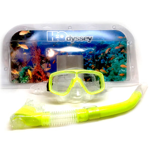 H2Odyssey Adult Snorkel Combo Set - Yellow, Recreation, H20 Oddysey, H20, Misc Stuff, Adult Silicone Mask/Snorkel Set Good quality tempered glass lensDouble feather-edged face skirt for comfort and positive sealAdjustable mask strap for proper fit1 year warranty