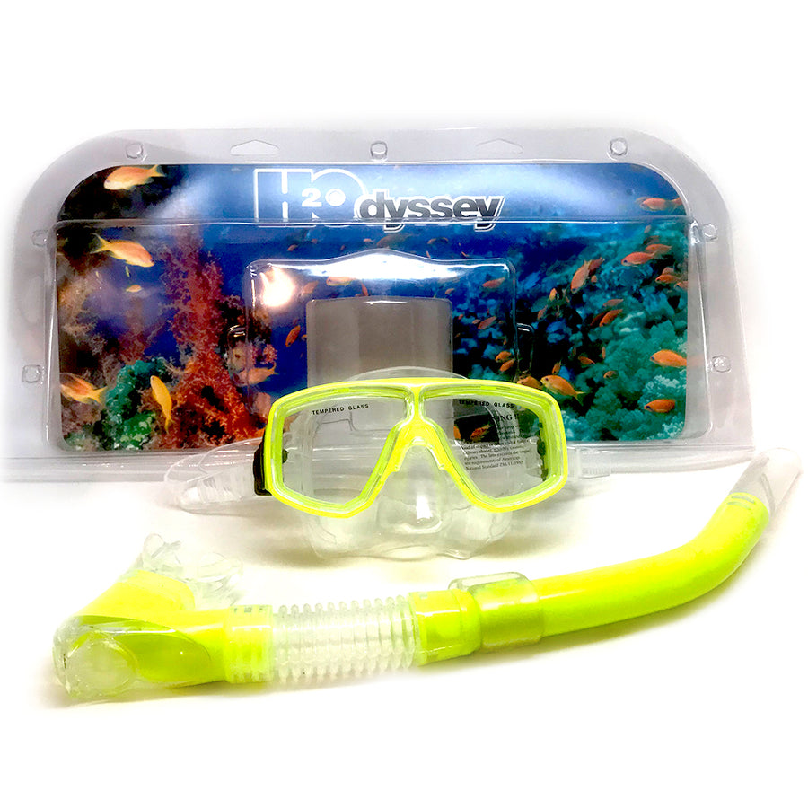 H2Odyssey Adult Snorkel Combo Set - Yellow