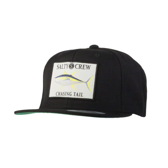 -Apparel Accessories-Salty Crew Mens Ahi Patched Hat - Black-Salty Crew-Seaside Surf Shop