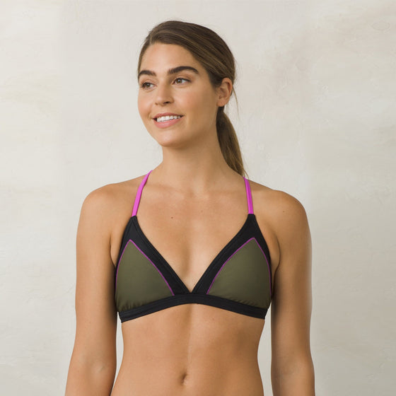 -Swimwear-PrAna Womens Aleka Top - Cargo Green-Prana-Seaside Surf Shop