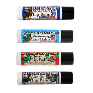 Aloe Gator Lip Balm, Sunscreen, Blocksurf, Aloe Gator, Lip Balm, Skin Care, Lip Balm from Aloe Gator. All feature 30 SPF protection. MInimum purchase of 4 for online purchases.