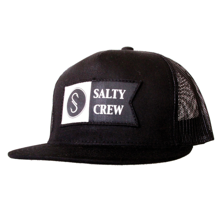 Salty Crew Mens Alpha Trucker Hat - Black-Salty Crew-Seaside Surf Shop