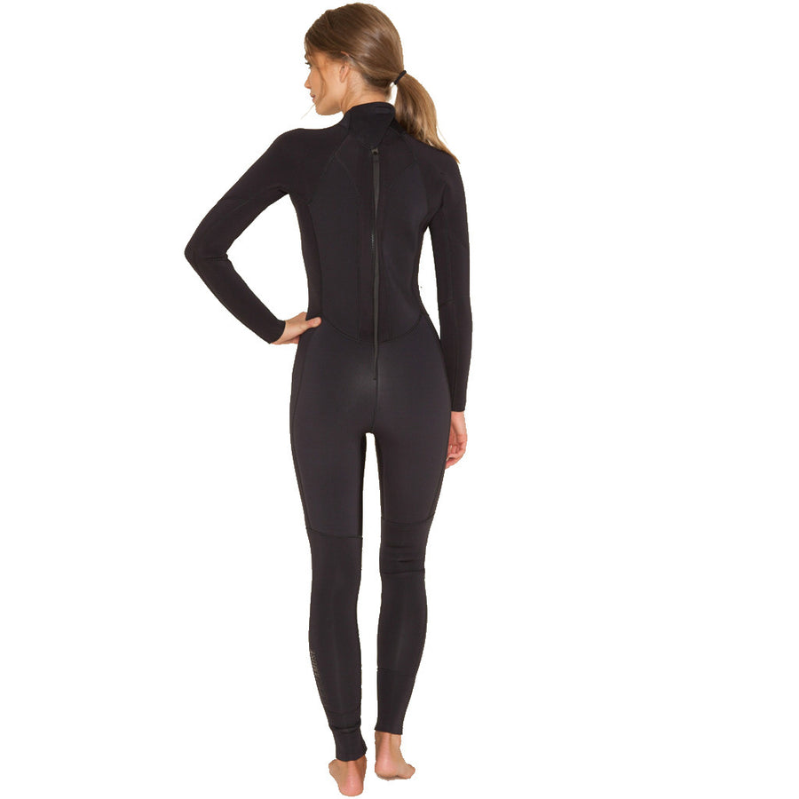 2017/18 Amuse Surf Series 4/3mm Womens Wetsuit - Black Sands-Amuse Wetsuits-Seaside Surf Shop
