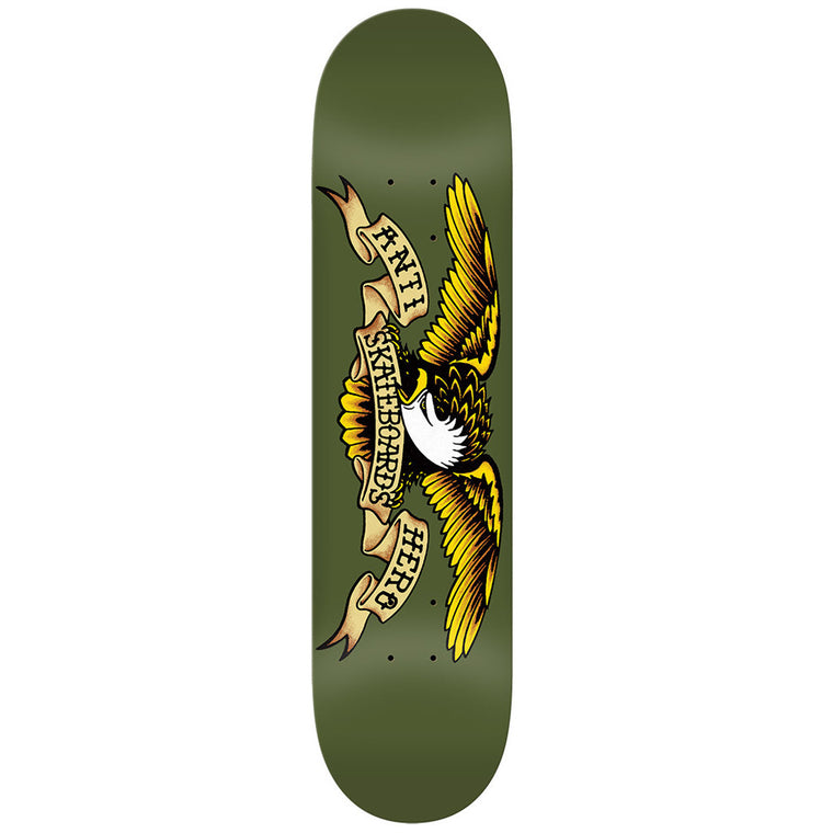 "-Skate-Anti Hero Classic Eagle 8.38"" Deck - Green-Anti Hero-Seaside Surf Shop"