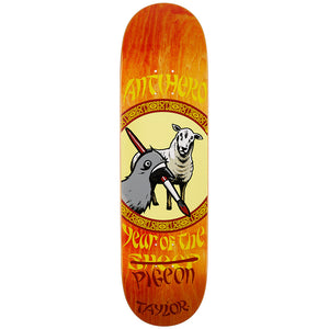 "Anti Hero Taylor Year of the Pigeon 8.5"" Deck - Orange Fade-Anti Hero-Seaside Surf Shop"