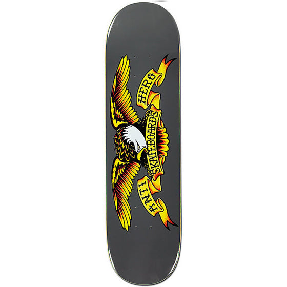 "-Skate-Anti Hero Classic Eagle 8.62"" Deck - Grey-Anti Hero-Seaside Surf Shop"