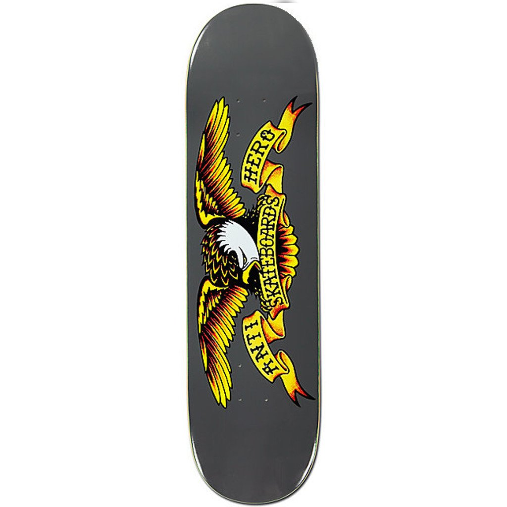 "Anti Hero Classic Eagle 8.25"" Deck - Grey - Seaside Surf Shop"