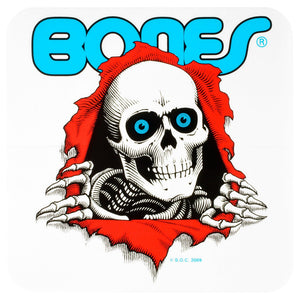 Powell Peralta Ripper Bumper Sticker 5x5 - White