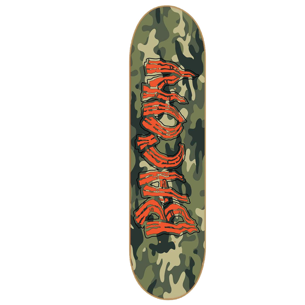 "-Skate-Bacon Camo Logo 8.25"" Deck-Bacon-Seaside Surf Shop"