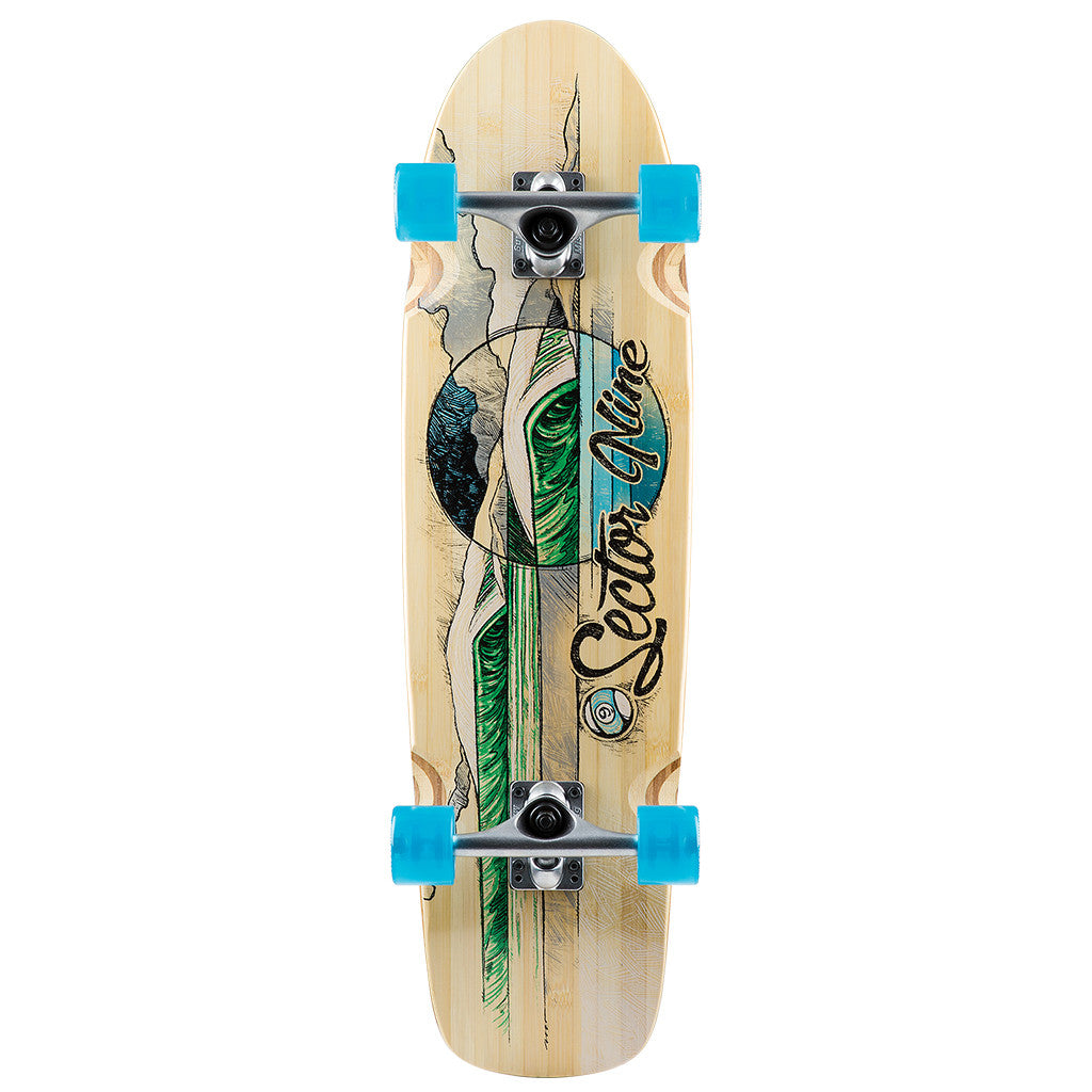 "-Skate-Sector 9 Bamboozler Complete - 31.5"" Green-Sector 9-Seaside Surf Shop"