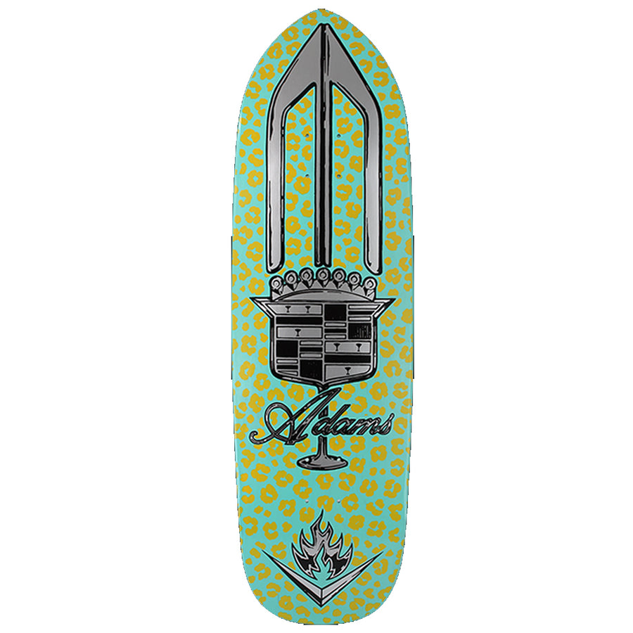 "Black Label Adams El Dorado Skate 9.5""x32.7"" Deck - Turq/Pink"